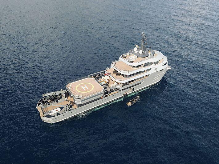 Ragnar yacht anchored in monaco