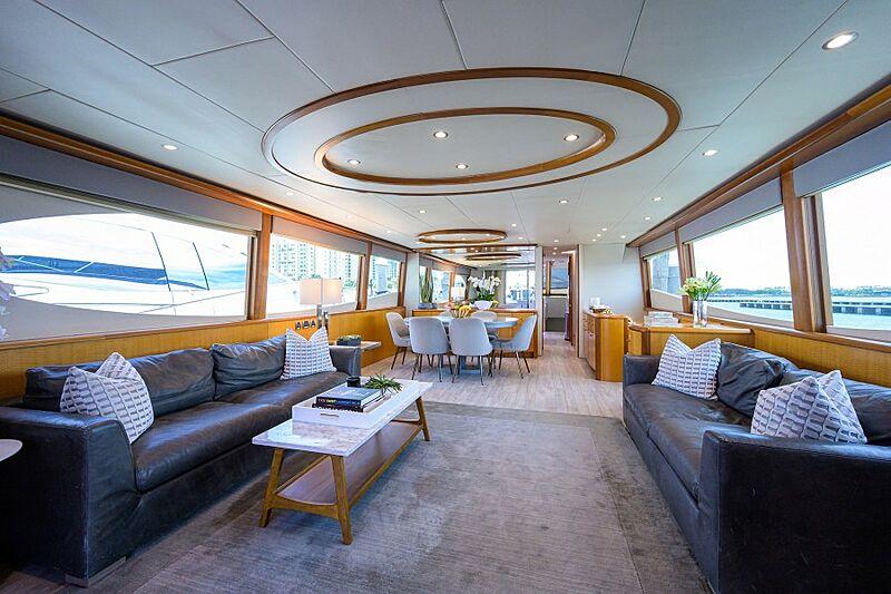 Living the Dream yacht saloon