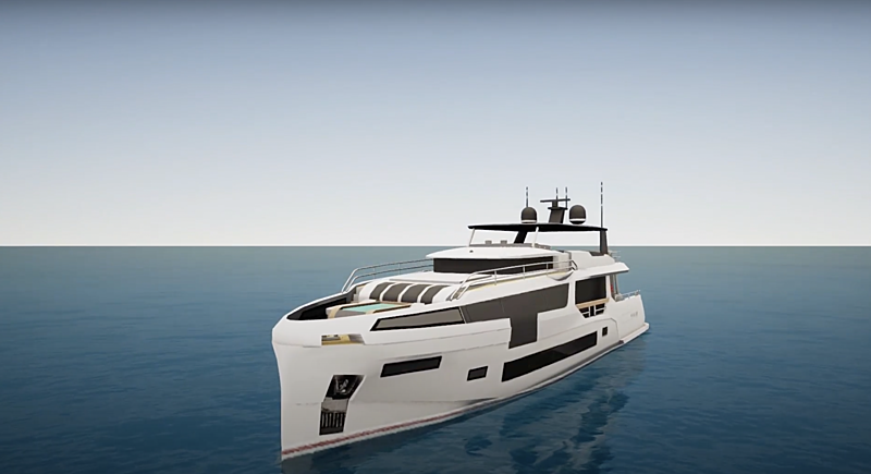 Sirena 88 yacht by Sirena Yachts in SYT 3D