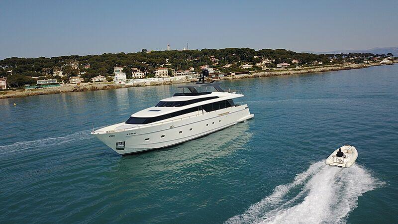 Rebessa yacht at. anchor
