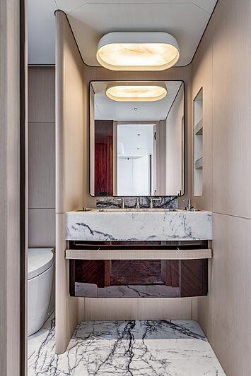 Azimut Grande Trideck yacht Shabby guest bathroom