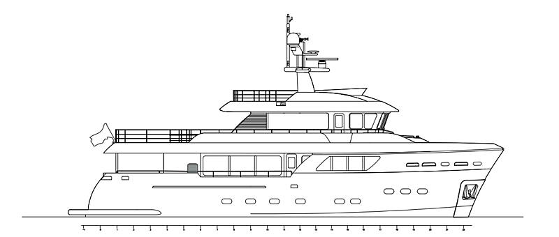 CdM Darwin 86 yacht general arrangement