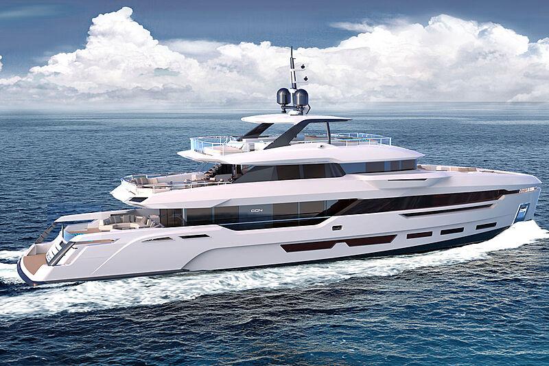Baglietto DOM 133 yacht exterior renders