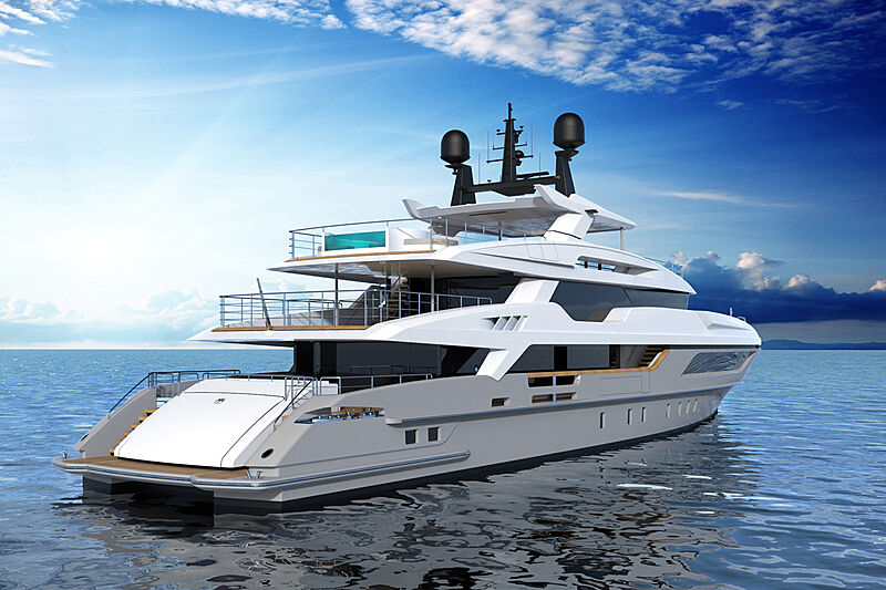 Baglietto 10233 yacht exterior renders
