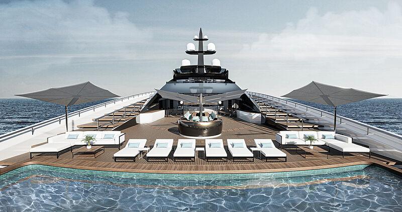 Concept Sunrise yacht exterior design