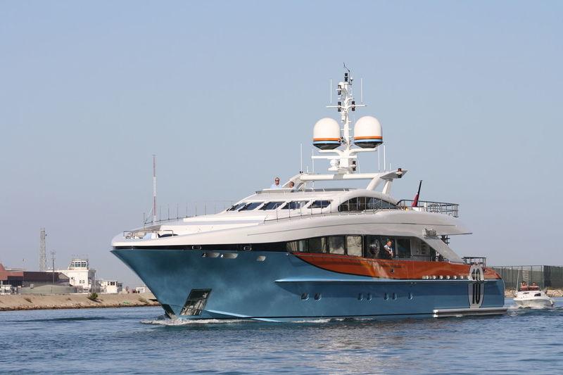 Aurelia cruising off Gibraltar