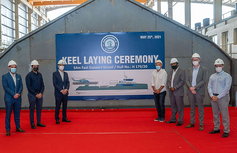 Freeway 54m Shadow Yacht keel laying ceremony in Dubai