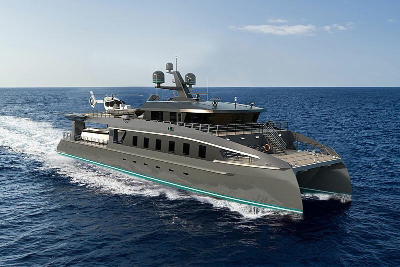 Project ShadowCat ToyBox yacht exterior design