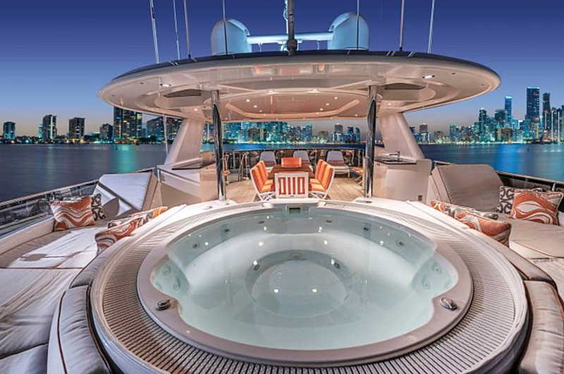 Release Me yacht jacuzzi