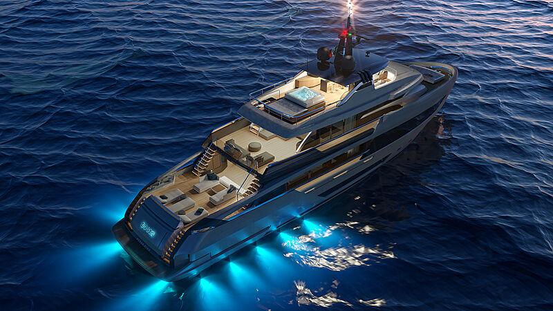 Ocean King Doge 400 yacht exterior design