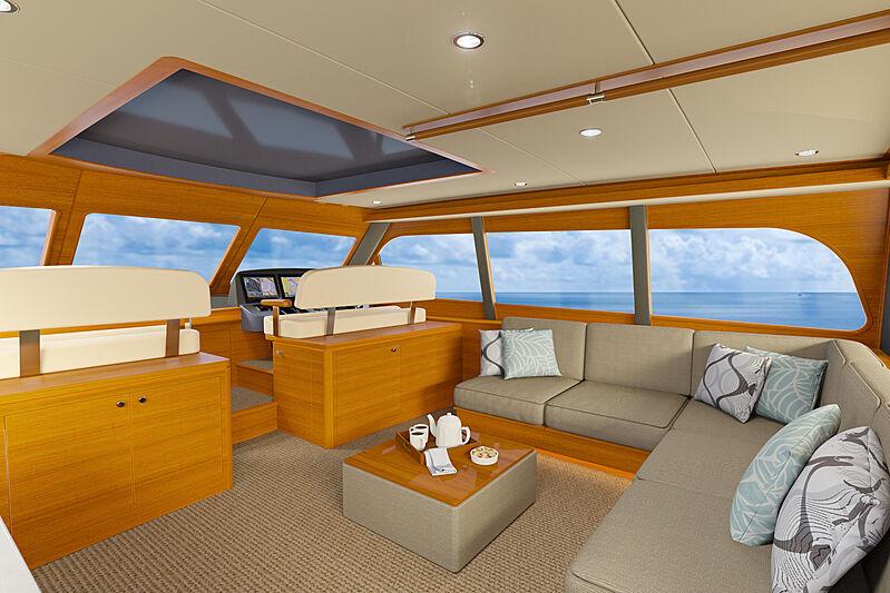 GB85 yacht interior design