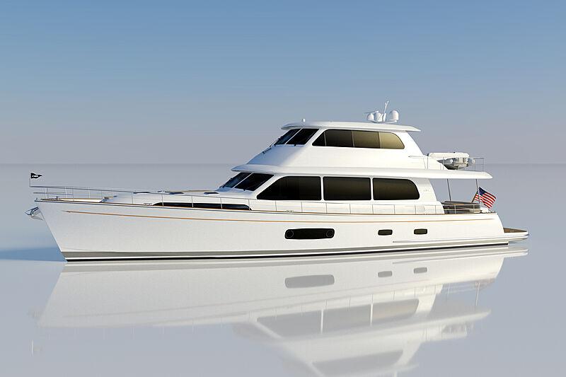 GB85 yacht exterior design
