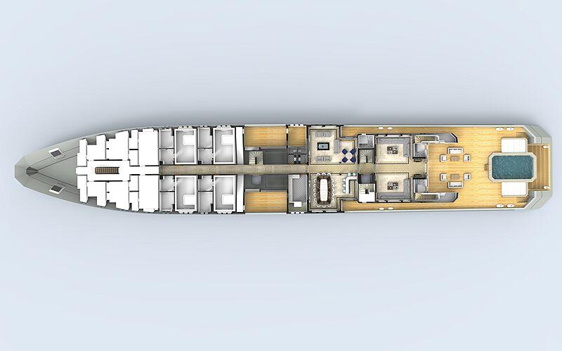 90m explorer superyacht concept Abdulaki Şenol main deck