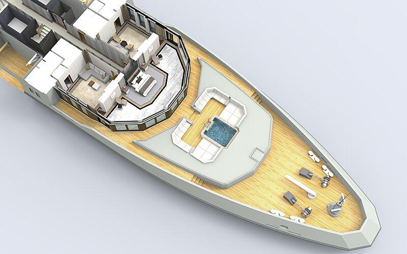 90m explorer superyacht concept Abdulaki Şenol upper deck