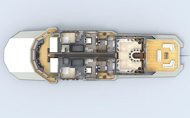 90m explorer superyacht concept Abdulaki Şenol bridge deck