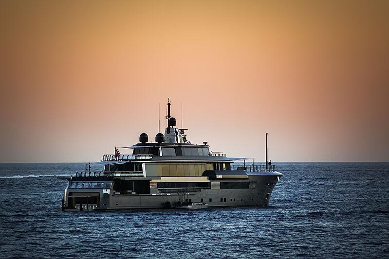 Atlante yacht at anchor in Monaco