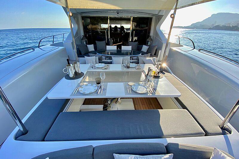 Splendida yacht deck