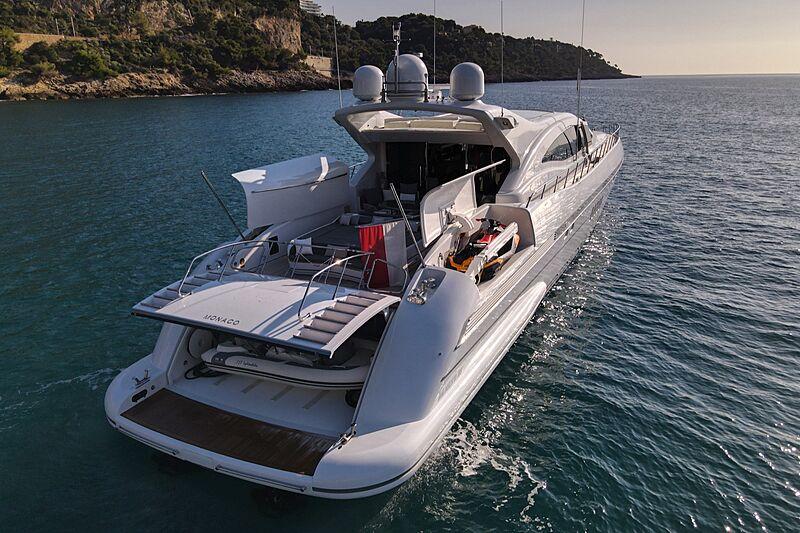 Splendida yacht at anchor