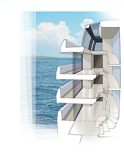 Project Atlas yacht exterior design