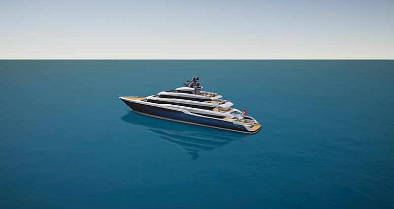 Project Atlas yacht SYT 3D