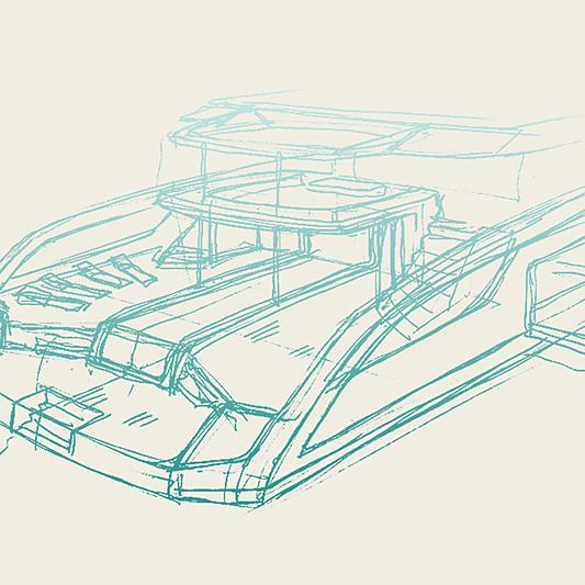 Project Atlas yacht sketch