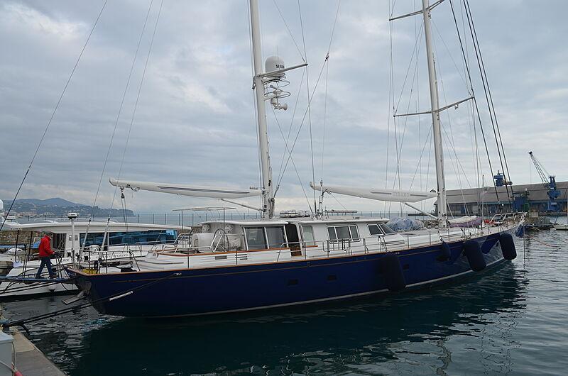 Cyrano de Bergerac yacht in marina