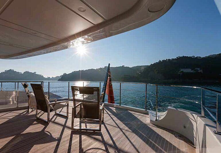 Safad yacht aft deck