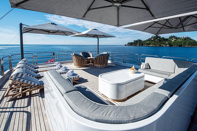 Sokar yacht upper deck