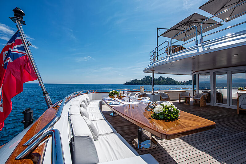 Sokar yacht aft deck
