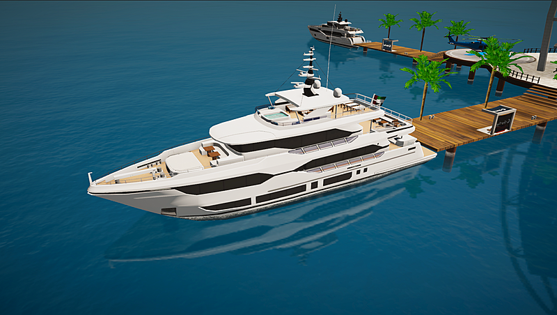 Majesty 120 by Gulf Craft in SYT 3D