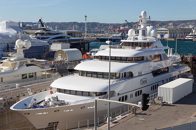 Titania yacht in refit