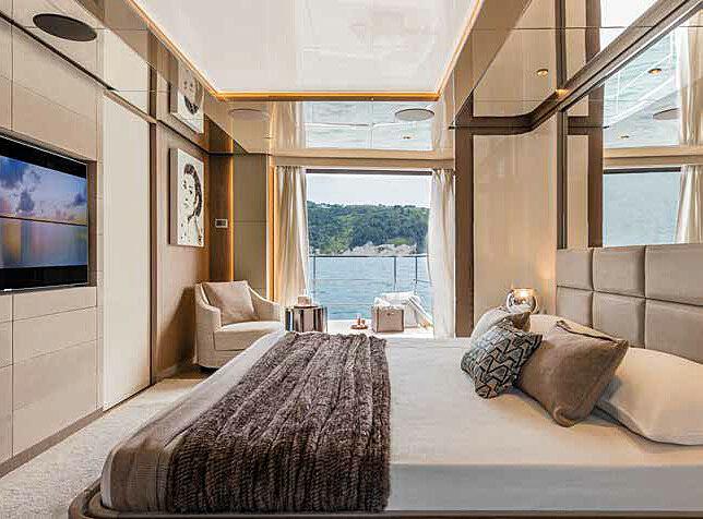 Falcon CA yacht master stateroom