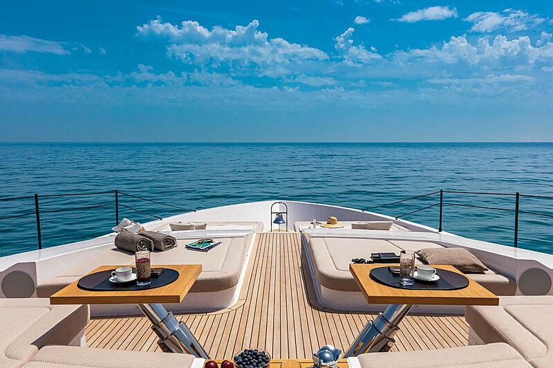 Falcon CA yacht foredeck