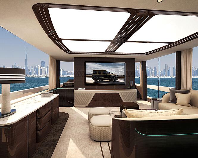 Dynamiq GTM 90 yacht interior