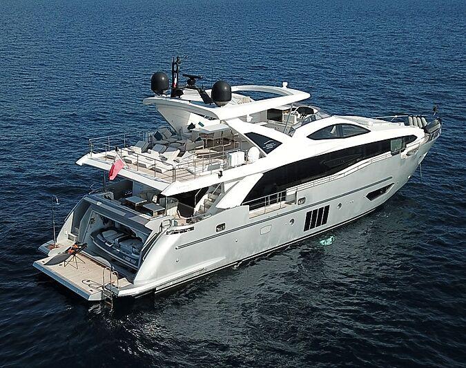 Good year yacht anchored