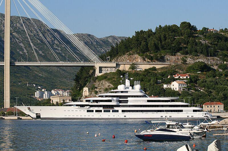 Scheherazade yacht by Lürssen in Dubrovnik