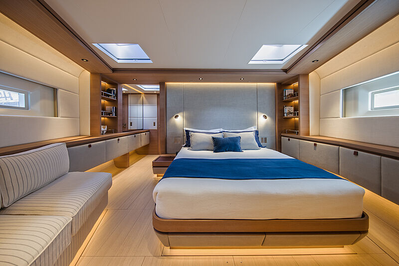 Taniwha yacht stateroom