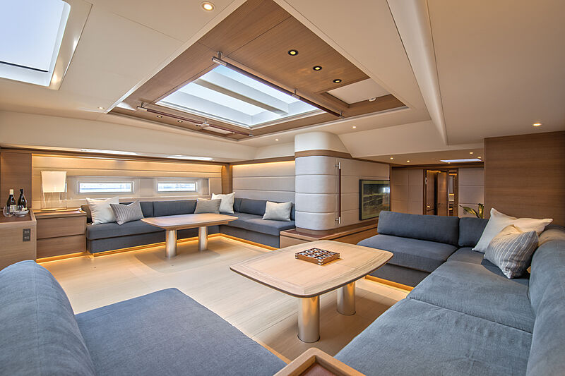 Taniwha yacht saloon