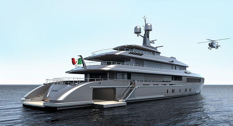 Codecasa C.127 yacht rendering
