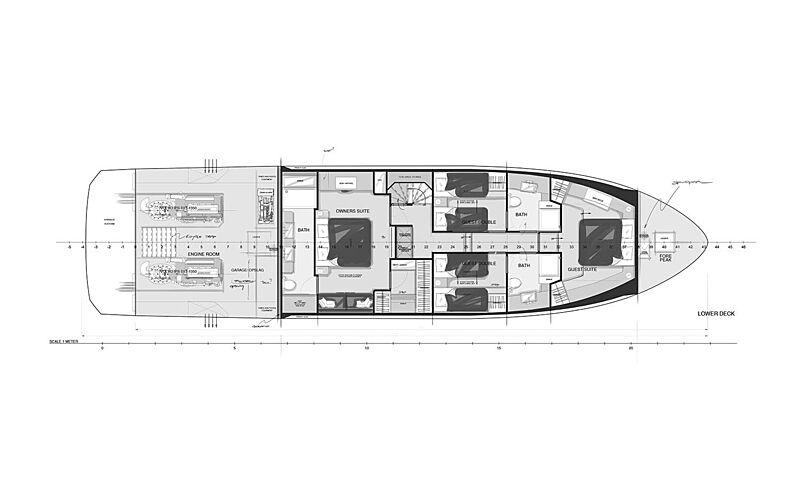 X-treme 78 Sport yacht general arrangement