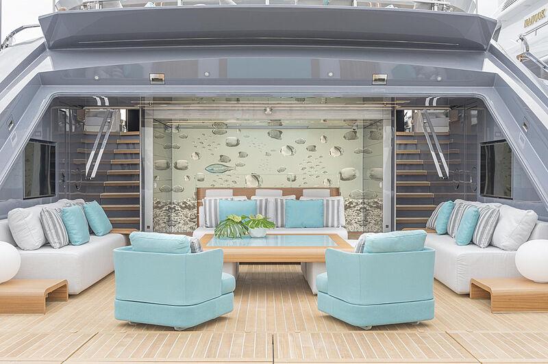 Utopia IV yacht aft