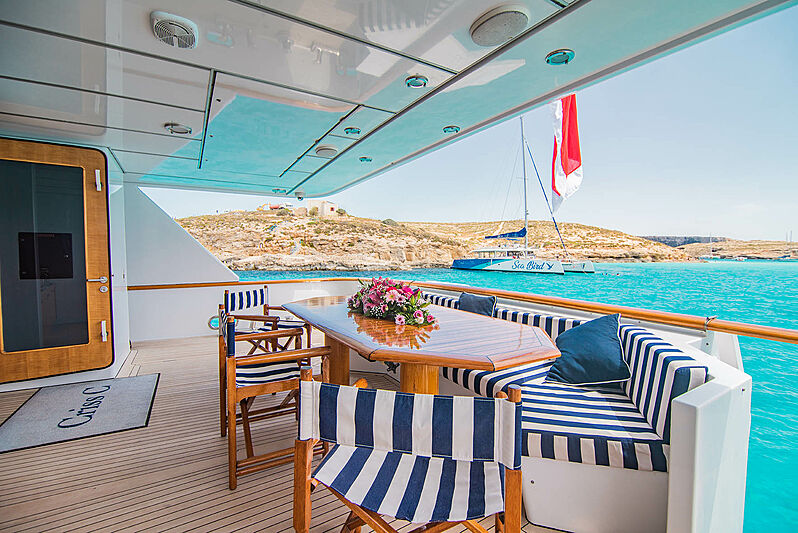 Criss C yacht aft deck
