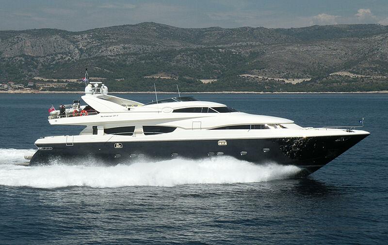 Ntinos Blue motor yacht cruising