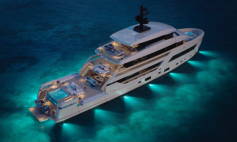 Sanlorenzo X-Space yacht rendering