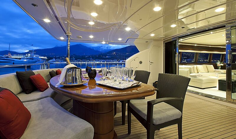 Lady Maria yacht deck