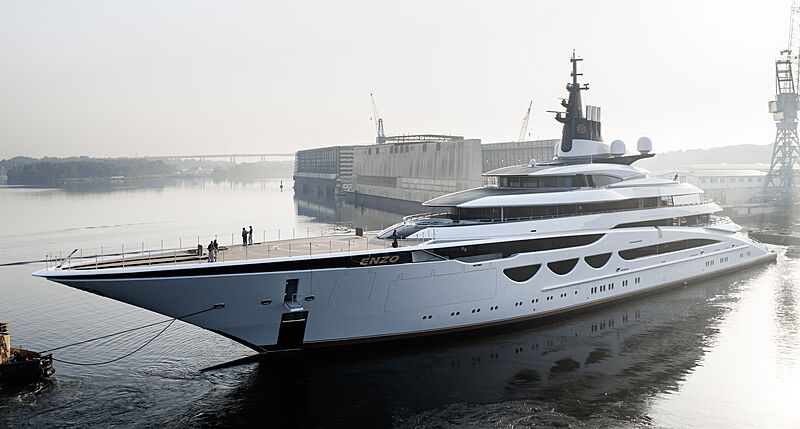 Enzo yacht launch at Lürssen