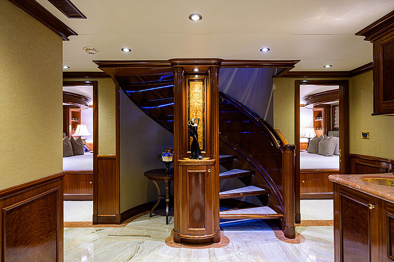 Excellence yacht staircase