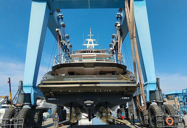 Azimut Grande 38/12 yacht launch in Viareggio