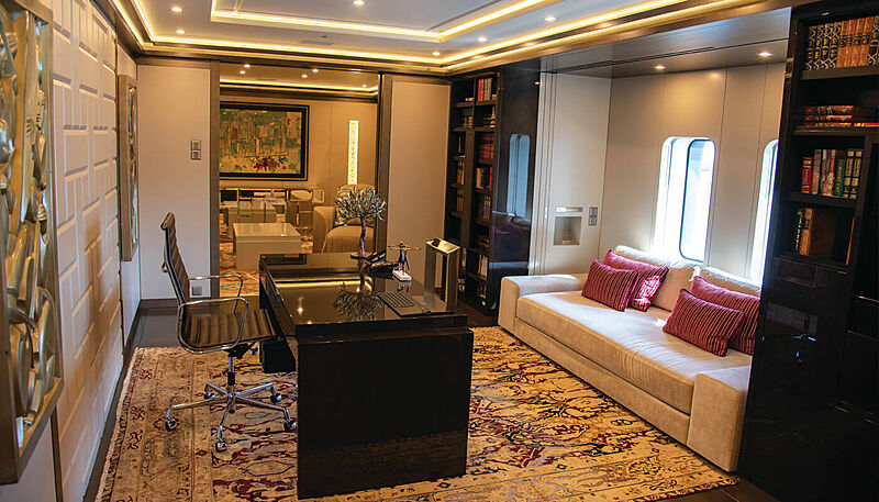Sapphire yacht owner's study