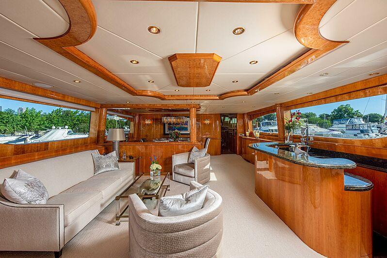 Triton motor yacht saloon